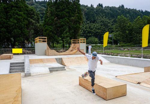 本日午後スケートボードパークがオープンします